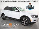 2018 Volkswagen Tiguan SE *BLIND SPOT ALERT, FORWARD COLLISION ALERT w/BRAKING, BACKUP-CAMERA, TOUCH SCREEN, 3RD ROW SEATING, HEATED SEATS, 18 INCH WHEELS, BLUETOOTH, APPLE CARPLAY