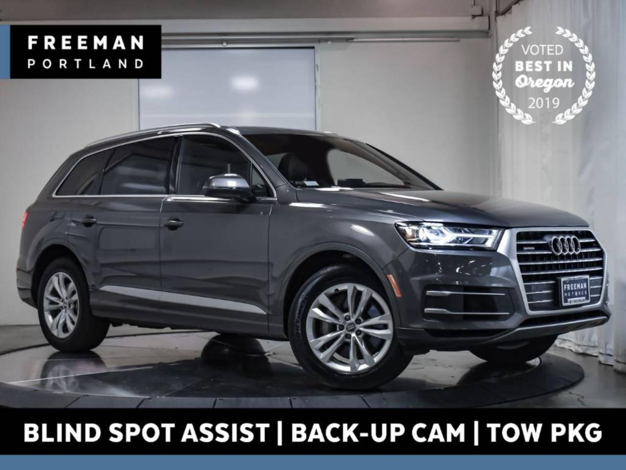 2019 Audi Q7 Premium 3rd Row Nav Back-Up Cam Htd Seats Tow
