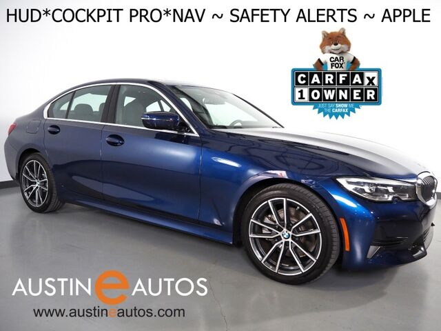 2019 BMW 3 Series 330i Sedan *LIVE COCKPIT PRO, HEADS-UP DISPLAY, NAVIGATION, LANE DEPARTURE & BLIND SPOT ALERT, COLLISION ALERT, BACKUP-CAMERA, MOONROOF, HEATED SEATS/STEERING WHEEL, APPLE CARPLAY Round Rock TX