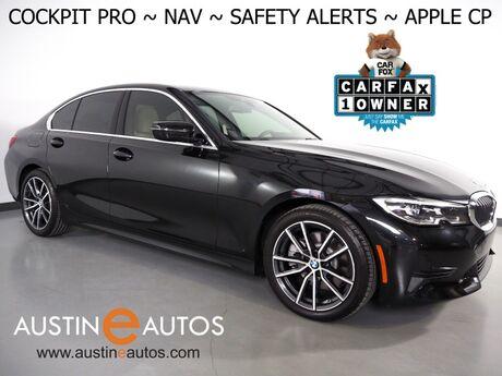 2019 BMW 3 Series 330i Sedan *LIVE COCKPIT PRO, NAVIGATION, LANE DEPARTURE & BLIND SPOT ALERT, COLLISION ALERT, BACKUP-CAMERA, MOONROOF, HEATED SEATS/STEERING WHEEL, APPLE CARPLAY Round Rock TX