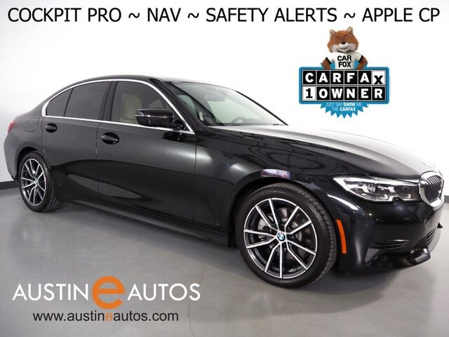 2019 BMW 3 Series 330i Sedan *LIVE COCKPIT PRO, NAVIGATION, LANE DEPARTURE & BLIND SPOT ALERT, COLLISION ALERT, BACKUP-CAMERA, MOONROOF, HEATED SEATS/STEERING WHEEL, APPLE CARPLAY Round Rock TX