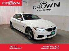 2019_BMW_4 Series_440i xDrive/2dr/ good as new!/ one owner/no accidents/ push start/sunroof/bluetooth_ Winnipeg MB