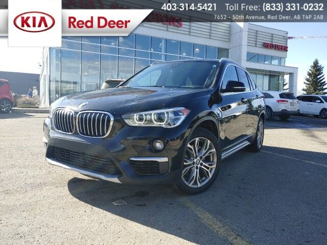 2019 BMW X1 xDrive 28i AWD 2.0L Turbo, Panoramic Sunroof, Navigation, Heated Red Deer AB