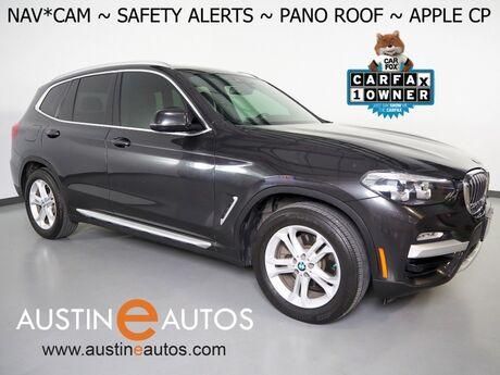 2019 BMW X3 sDrive30i *NAVIGATION, BLIND SPOT & LANE DEPARTURE ALERT, DRIVING ASSISTANT, BACKUP-CAMERA, PANORAMA MOONROOF, HEATED SEATS, APPLE CARPLAY Round Rock TX