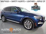 2019 BMW X3 sDrive30i *XLINE, HEADS-UP DISPLAY, NAVIGATION, BLIND SPOT & LANE DEPARTURE ALERT, DRIVING ASSISTANT, PANORAMA MOONROOF, VERNASCA LEATHER, HEATED SEATS/STEERING WHEEL, APPLE CARPLAY