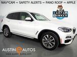 2019 BMW X3 sDrive30i *XLINE, NAVIGATION, BLIND SPOT & LANE DEPARTURE ALERT, DRIVING ASSISTANT, BACKUP-CAMERA, PANORAMA MOONROOF, HEATED SEATS, 19 INCH WHEELS, APPLE CARPLAY