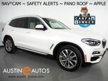 2019 BMW X3 sDrive30i *XLINE, NAVIGATION, BLIND SPOT & LANE DEPARTURE ALERT, DRIVING ASSISTANT, BACKUP-CAMERA, PANORAMA MOONROOF, HEATED SEATS, 19 INCH WHEELS, APPLE CARPLAY
