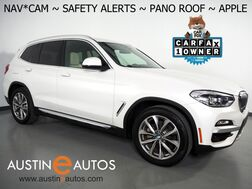 2019_BMW_X3 sDrive30i_*XLINE, NAVIGATION, BLIND SPOT & LANE DEPARTURE ALERT, DRIVING ASSISTANT, BACKUP-CAMERA, PANORAMA MOONROOF, HEATED SEATS, 19 INCH WHEELS, APPLE CARPLAY_ Round Rock TX