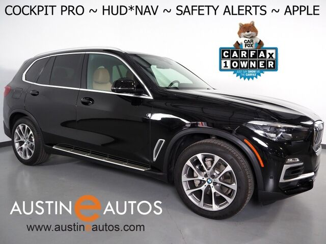 2019 BMW X5 xDrive40i AWD *HEADS-UP DISPLAY, LIVE COCKPIT PRO, NAVIGATION, LANE DEPARTURE & BLIND SPOT ALERT, 360 VIEW CAMERAS, PANORAMA MOONROOF, LEATHER, HEATED SEATS, APPLE CARPLAY Round Rock TX