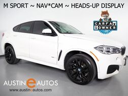 2019_BMW_X6 sDrive35i_*M SPORT PKG, HEADS-UP DISPLAY, NAVIGATION, LANE DEPARTURE & BLIND SPOT ALERT, DRIVING ASSISTANT, BACKUP-CAM, LEATHER, MOONROOF, HARMAN/KARDON, APPLE CARPLAY_ Round Rock TX