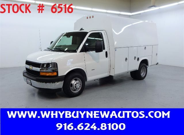 2019 Chevrolet Express 3500 ~ 10ft. Plumber Van ~ Only 6K Miles! Rocklin CA