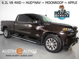2019_Chevrolet_Silverado 1500 4WD Crew Cab High Country_*6.2L V8, 6.5 FOOT BED, Z71 OFF ROAD PKG, HEADS-UP DISPLAY, SAFETY ALERTS, 360 CAMERAS, MOONROOF, ADAPTIVE CRUISE, LEATHER, CLIMATE SEATS, BOSE AUDIO, APPLE CARPLAY_ Round Rock TX
