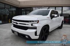 2019_Chevrolet_Silverado 1500_RST / Z71 / 4X4 / IHC Lowering Kit w/ Helper Bags / Heated Leather Seats / Heated Steering Wheel / Sunroof / Bose Speakers / Rockford Fosgate Subwoofer & Amp / 26 Wheels / Auto Start / Tonneau Cover / Tow Pkg / 1-Owner_ Anchorage AK