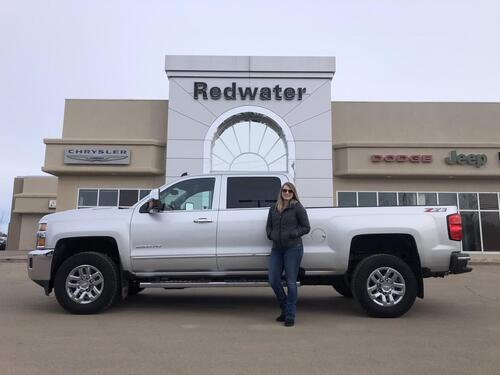 2019_Chevrolet_Silverado 2500_LTZ Crew Cab - Duramax Diesel - Leather - Heated/ Cooled Seats - Remote Start_ Redwater AB