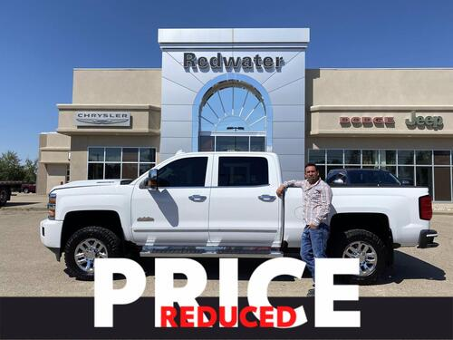 2019_Chevrolet_Silverado 3500HD_High Country CREW 4X4 - DURAMAX DIESEL - FULL LEATHER - SUNROOF - NAVIGATION - ONE OWNER_ Redwater AB