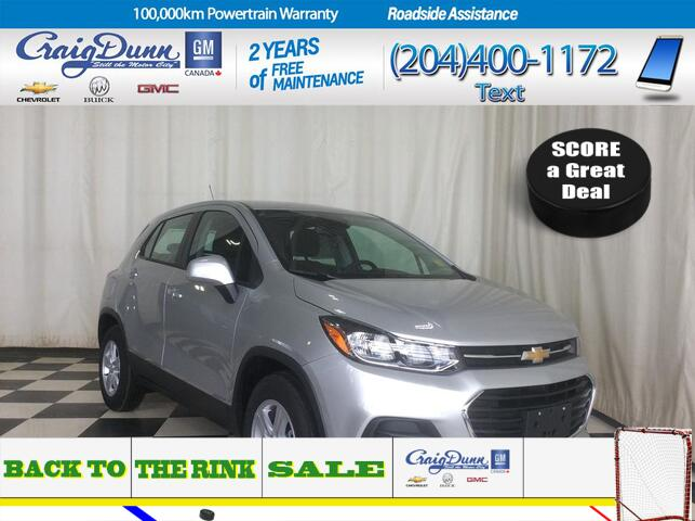 2019 Chevrolet Trax * LS Front Wheel Drive * REAR CAMERA * Portage La Prairie MB