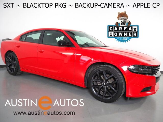 2019 Dodge Charger SXT *BLACKTOP APPEARANCE PKG, BACKUP-CAMERA, COLOR TOUCH -SCREEN, REMOTE/PUSH BUTTON START, MULTI-FUNCTION STEERING WHEEL CONTROLS, 20 INCH ALLOY WHEELS, BLUETOOTH PHONE & AUDIO, APPLE CARPLAY Round Rock TX