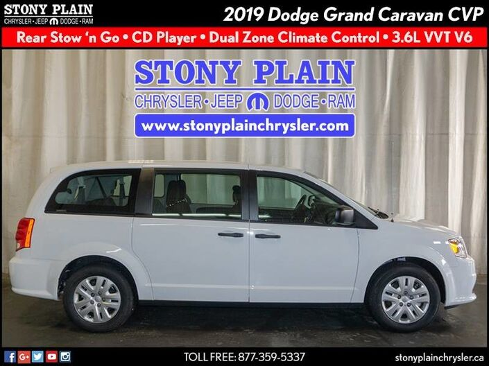 2019 Dodge Grand Caravan Canada Value Package Stony Plain AB