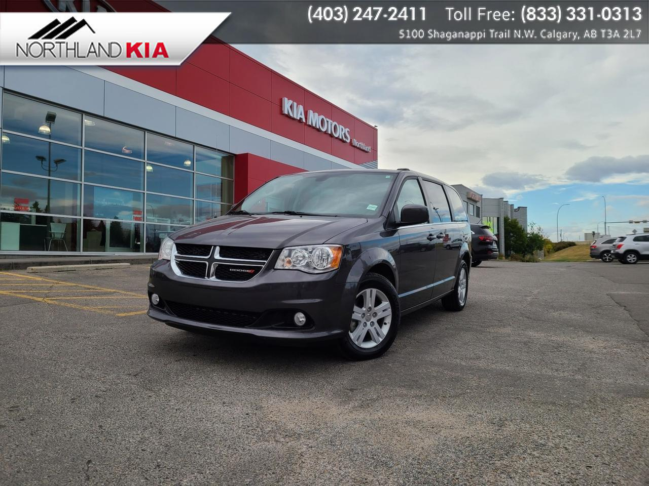 2019 Dodge Grand Caravan Crew Plus DVD, HEATED SEATS/STEERING, NAV, BACKUP CAMERA Calgary AB