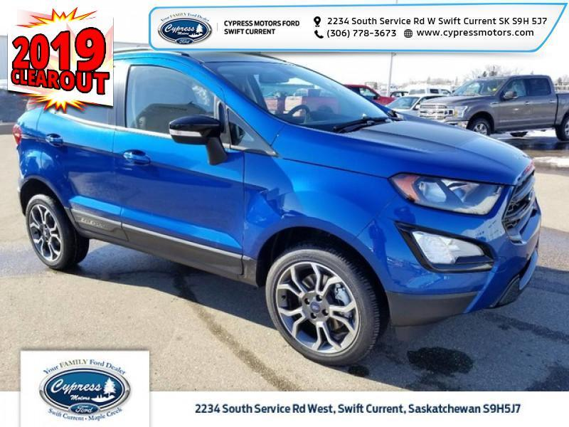 2019 Ford EcoSport SES 4WD  - Activex Seats -  Heated Seats - $200 B/W Swift Current SK