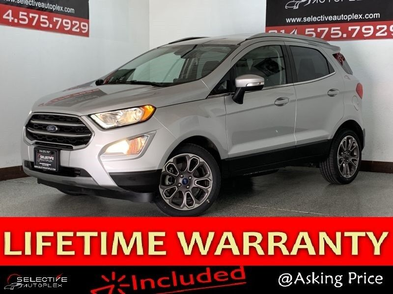 2019 Ford EcoSport Titanium, NAV, BLIND SPOT MON, REAR VIEW CAM, HEATED FRONT SEATS, SUNROOF Carrollton TX