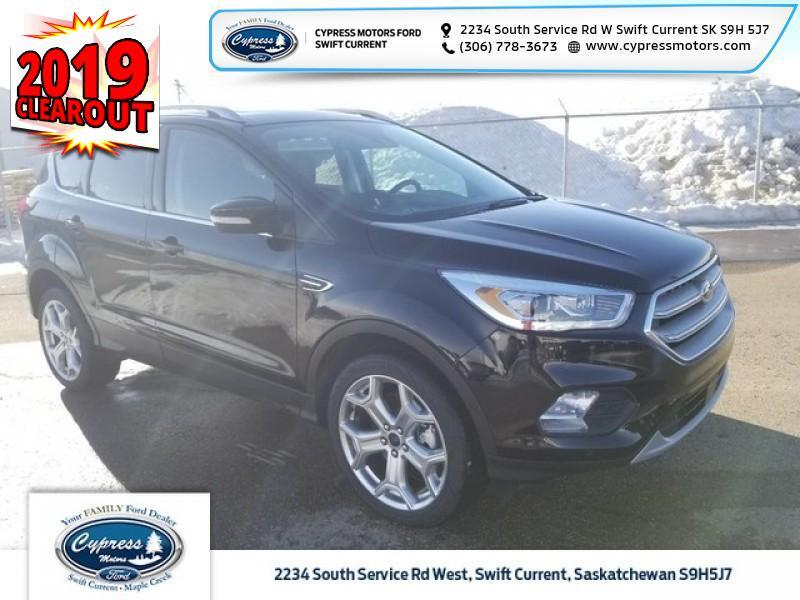 2019 Ford Escape Titanium 4WD  - Leather Seats - $317 B/W Swift Current SK