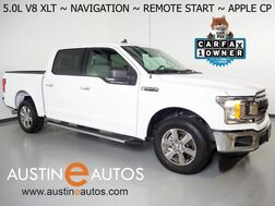 2019_Ford_F-150 2WD SuperCrew XLT 5.0L V8_*NAVIGATION, BACKUP-CAMERA, COLLISION ALERT, REMOTE START, COLOR TOUCH SCREEN, HEATED FRONT SEATS, 18 INCH CHROME WHEELS, BLUETOOTH PHONE & AUDIO, APPLE CARPLAY_ Round Rock TX