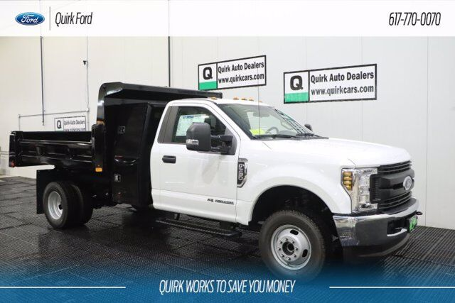 "2019 Ford F-350 DRW XL RUGBY 9' 2-3 YARD DUMP BODY W/ ""I"" PAK TOOL BOX Quincy MA"