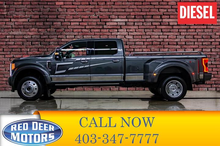 2019 Ford F-450 4x4 Crew Cab Platinum Dually Diesel Red Deer AB
