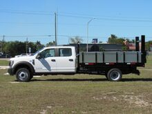 2019_Ford_F-550 Crew cab_12' BABCO Steel/Aluminum Flatbed Dump (Diesel)_ Homestead FL