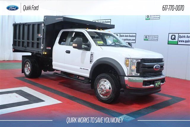2019 Ford F-550 DRW XL 8' Smooth side Landscape Body Quincy MA