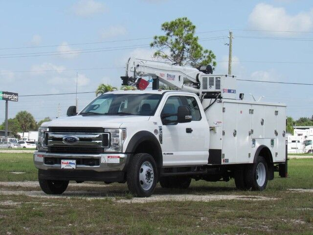 2019 Ford F-550XL 4x4 Super Cab Utility Service Truck with Stellar 7621 Telescopic Crane Homestead FL