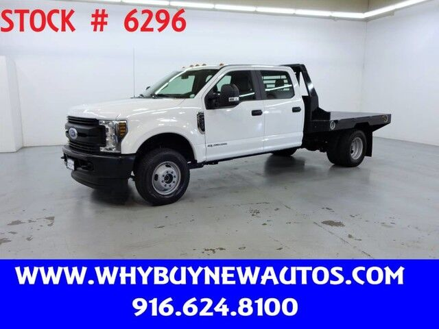 2019 Ford F350 ~ 4x4 ~ Diesel ~ Crew Cab ~ 9ft. Flat Bed ~ Only 4K Miles! Rocklin CA