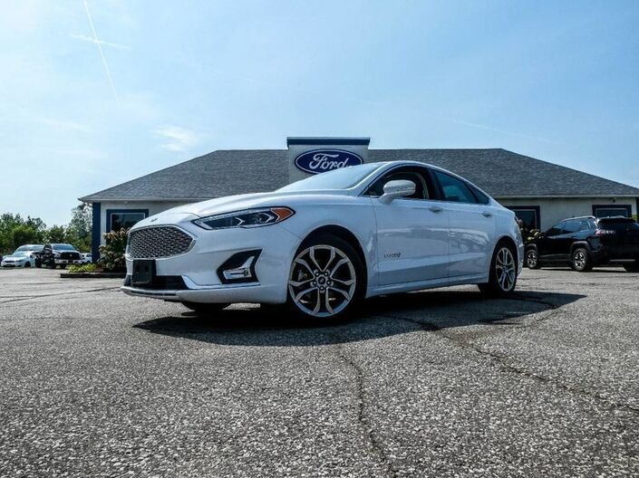 2019 Ford Fusion Hybrid Titanium- LEATHER- NAVIGATION- ADAPTIVE CRUISE- BLIS- LOADED Essex ON
