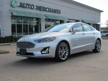 2019_Ford_Fusion Hybrid_Titanium 2.0L 4CYL HYBRID, AUTOMATIC, NAVIGATION, LEATHER SEATS, BACKUP CAMERA, HTD/CLD FRONT STS_ Plano TX