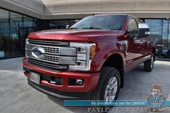 2019_Ford_Super Duty F-350_Platinum / FX4 / 4X4 / Turbo Diesel / Auto Start / Heated Leather Seats & Steering Wheel / Sunroof / Bang & Olufsen Speakers / Navigation / Adaptive Cruise / Lane Departure & Blind Spot Alert / Bed Liner / Tow Pkg_ Anchorage AK