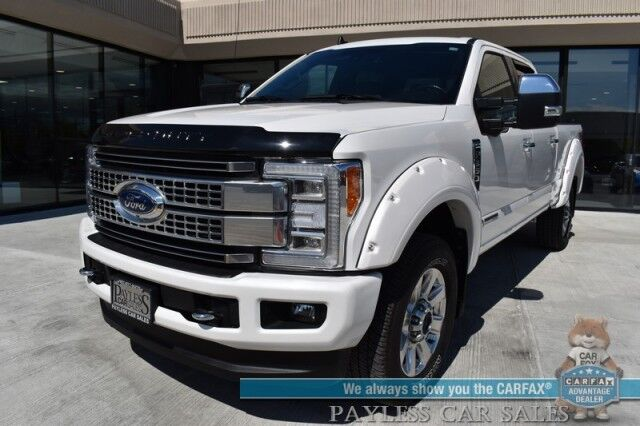2019 Ford Super Duty F-350 Platinum / Ultimate Pkg / FX4 / 4X4 / Power Stroke Diesel / Heated & Cooled Leather Seats / Navigation / Sunroof / B&O Speakers / Auto Start / Adaptive Cruise / Blind Spot & Lane Departure Alert / Bed Liner / Tow Pkg Anchorage AK