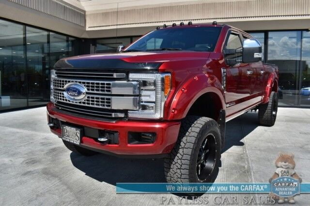 2019 Ford Super Duty F-350 Platinum / Ultimate Pkg / FX4 / 4X4 / Power Stroke Diesel / Heated & Cooled Leather Seats / Navigation / Sunroof / B&O Speakers / Auto Start / Adaptive Cruise / Blind Spot & Lane Departure Alert / Tow Pkg Anchorage AK