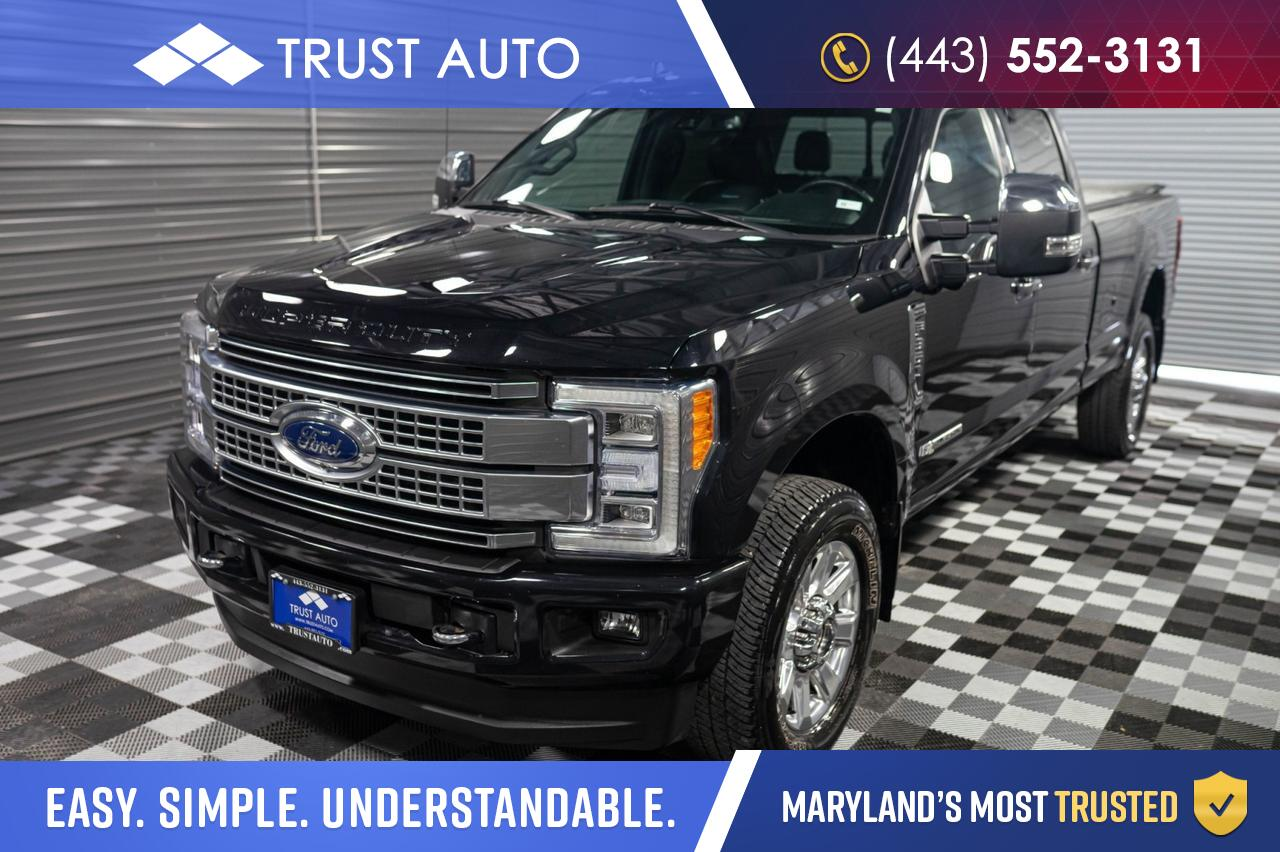 2019 Ford Super Duty F-350 SRW Platinum Crew Cab Ultimate Package 8Ft Turbo Diesel Pickup Truck
