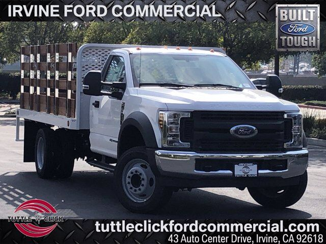 2019 Ford Super Duty F-550 DRW XL Scelzi 12' Stake Bed Diesel Irvine CA