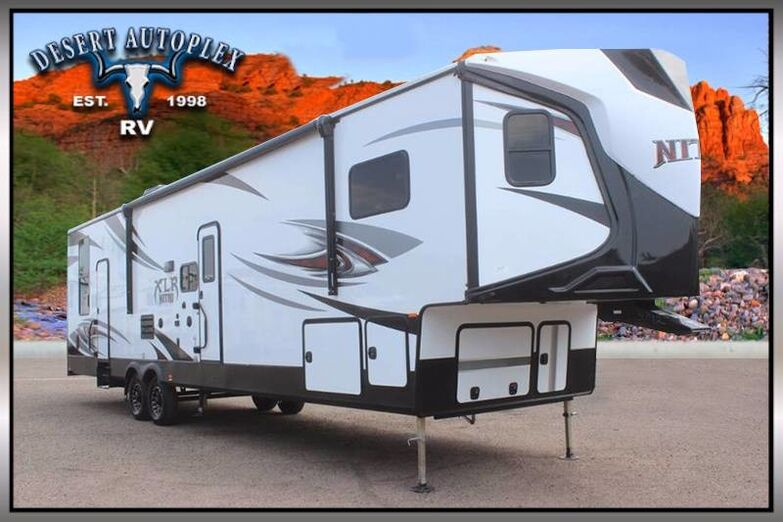 2019 Forest River XLR Nitro 36VL5 Double Slide Fifth Wheel Toy Hauler Mesa AZ