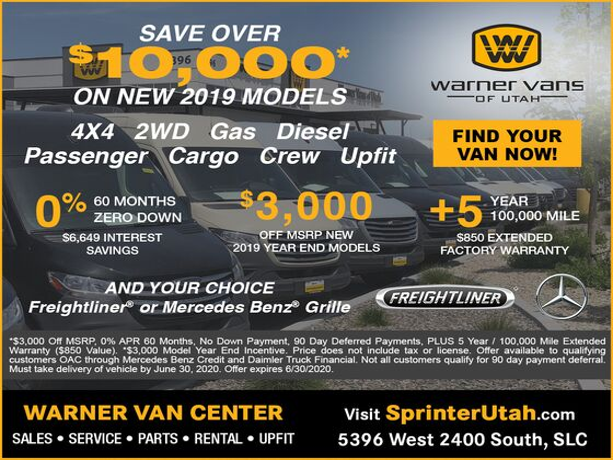 2019 Freightliner Sprinter Passenger 2500 V6 High Roof 144 4WD West Valley City UT