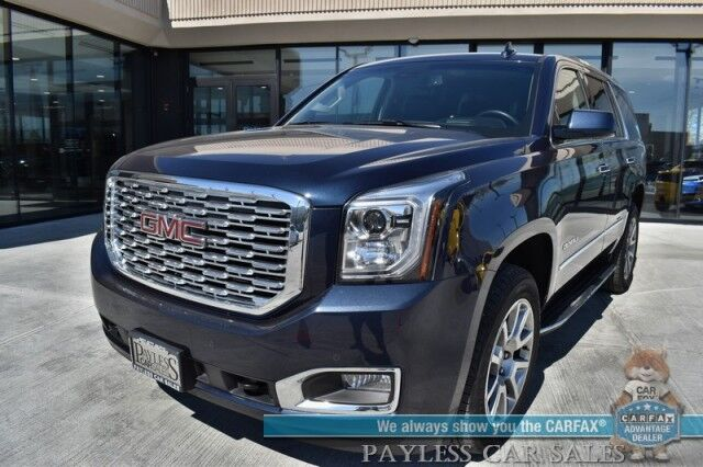 2019 GMC Yukon Denali / 4X4 / Auto Start / Heated & Cooled Leather Seats / Bose Speakers / Sunroof / Navigation / HUD / Blind Spot & Lane Departure / Rear Captain Chairs / 3rd Row / Seats 7 / Tow Pkg / 1-Owner Anchorage AK