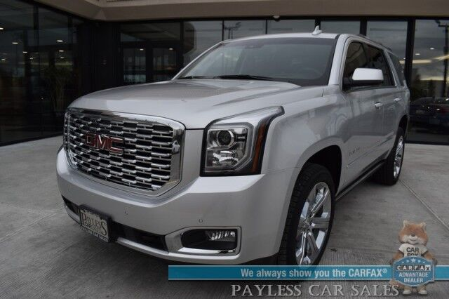 2019 GMC Yukon Denali / 4X4 / Auto Start / Heated & Cooled Leather Seats / Heated Steering Wheel / Bose Speakers / Sunroof / Navigation / HUD / Lane Departure & Blind Spot / 3rd Row / Seats 7 / Tow Pkg / Only 14k Miles / 1-Owner Anchorage AK