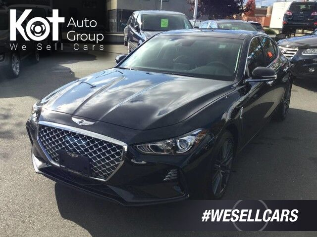 2019 Genesis G70 Advanced AWD 2.0T Leather Interior, Backup Camera Victoria BC