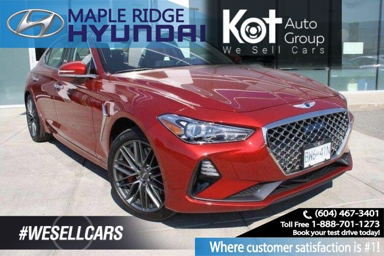 2019 Genesis G70 Lux Twin Turbo 3.3T Advanced Heated Seats, Backup Camera Maple Ridge BC