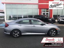 2019_Honda_Civic Sedan_LX CVT  - Certified - Heated Seats - $156 B/W_ Clarenville NL