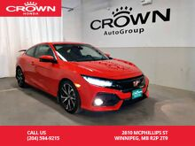 2019_Honda_Civic Si Coupe_Manual/ Good as new!/ one owner lease return/accident-free history/2-way remote start_ Winnipeg MB