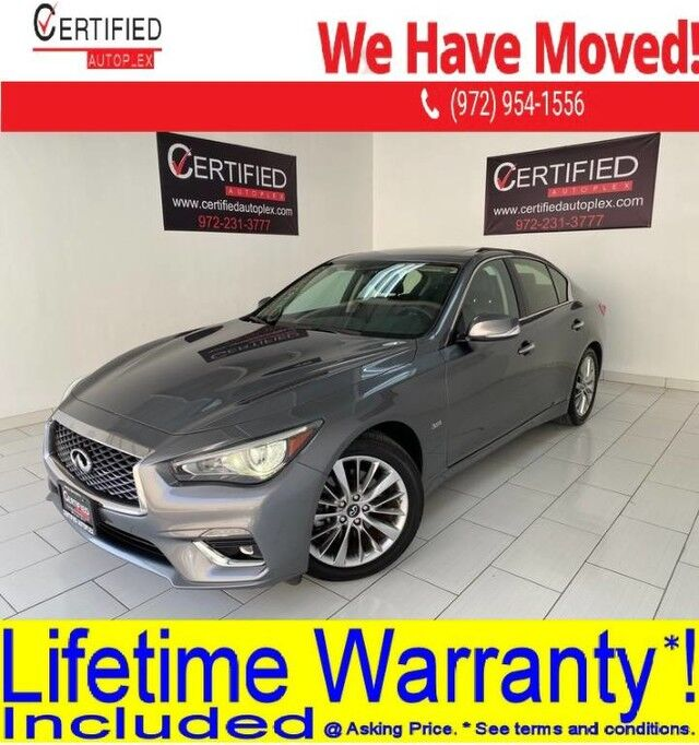 2019 INFINITI Q50 3.0T LUXE SUNROOF REAR CAMERA POWER LEATHER SEATS BLUETOOTH HEATED MIRRORS Dallas TX