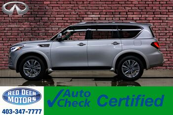 2019_Infiniti_QX80_AWD Luxury Edition Leather Roof Nav TV's_ Red Deer AB
